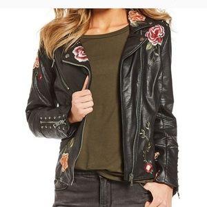 Gibson latimer embroidered moto jacket. Size Large